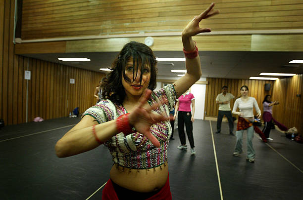 Sydney`s first Bollywood dance school teacher Farah Shah demonstrates some moves to her Thursday night class at Mango dance studio North Sydney 25...