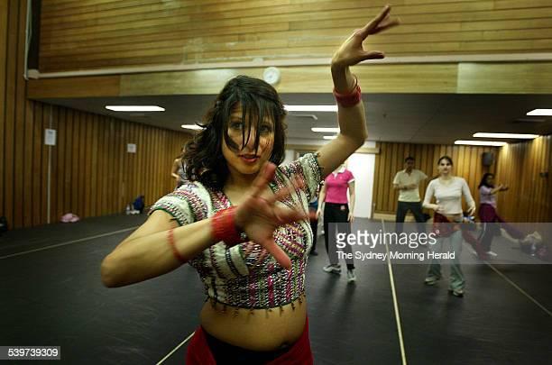 Sydney's first Bollywood dance school teacher Farah Shah demonstrates some moves to her Thursday night class at Mango dance studio North Sydney 25...