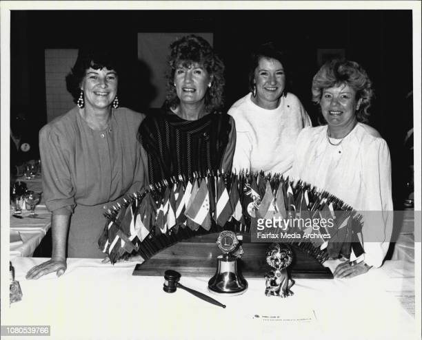 Sydneys first female Lionesses to be inducted into the Lions Clubs all members of the LeichhardtDarling Harbour Lions ClubLeft to Right Joyce...