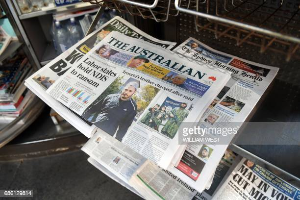 Sydney's morning papers sit on display at a news kiosk on May 17 2017 Australia's role as a testing ground for international media giants could speed...