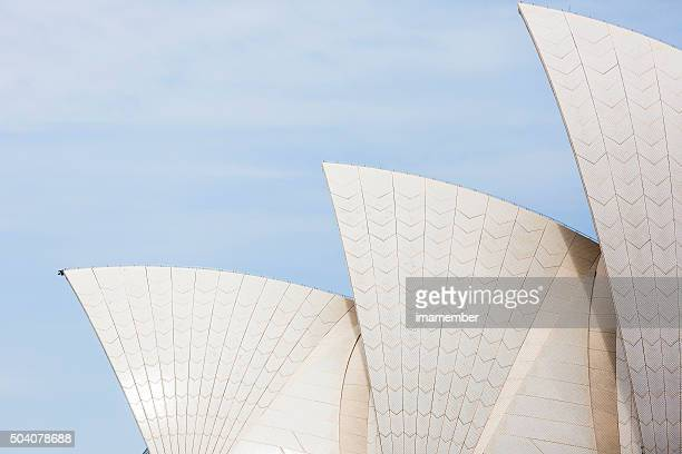 Sydney's Opera House against blue sky, copy space