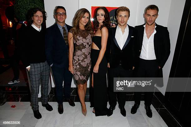 EVENTS USA E BRAVO Syfy Holiday Party Pictured Mark Schwahn Adam Stotsky President Esquire Network and General Manager E Entertainment Elizabeth...