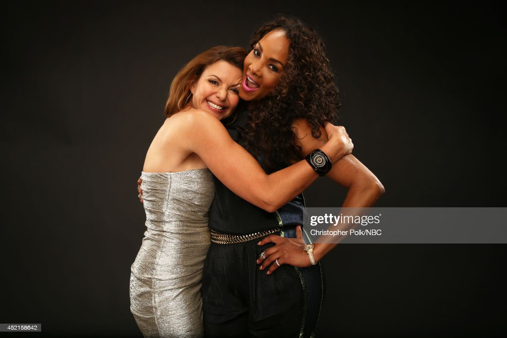 Syfy's 'Sharknado 2' actresses Kari Wuhrer and Vivica A. Fox pose for a portrait during the NBCUniversal Press Tour at the Beverly Hilton on July 14, 2014 in Beverly Hills, California.(Photo by Christopher Polk/NBCU Photo Bank via Getty Images) NUP_164677_3669.JPG
