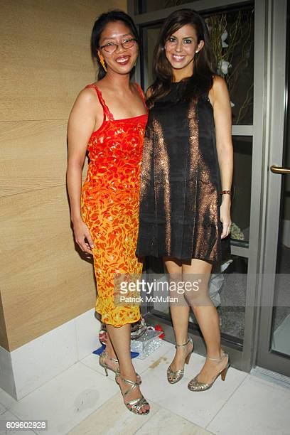 Syl Tang and Melissa Foss attend Cleo Spa and Salon Pre – Opening at 157 Freedom Place at W 66th St on September 26 2007 in New York City