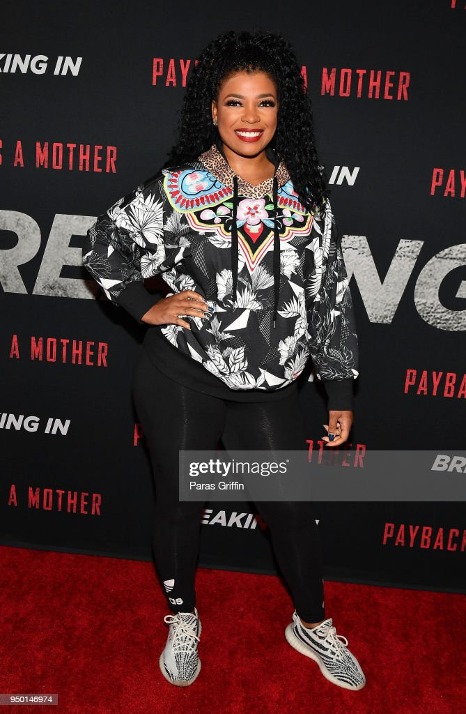 Syleena Johnson attends 'Breaking In' Atlanta Private Screening at Regal Atlantic Station on April 22, 2018 in Atlanta, Georgia.
