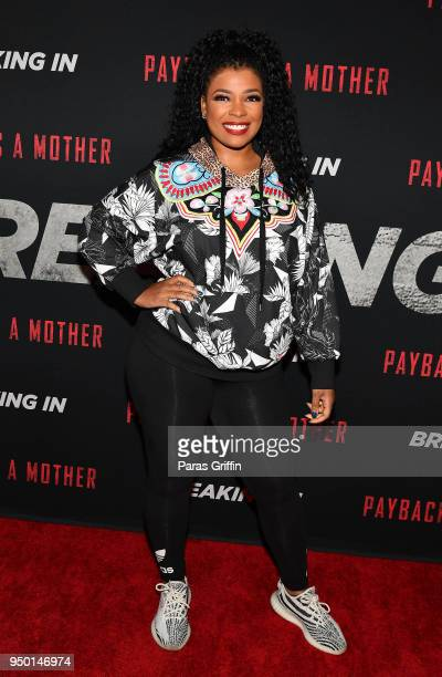 Syleena Johnson attends Breaking In Atlanta Private Screening at Regal Atlantic Station on April 22 2018 in Atlanta Georgia