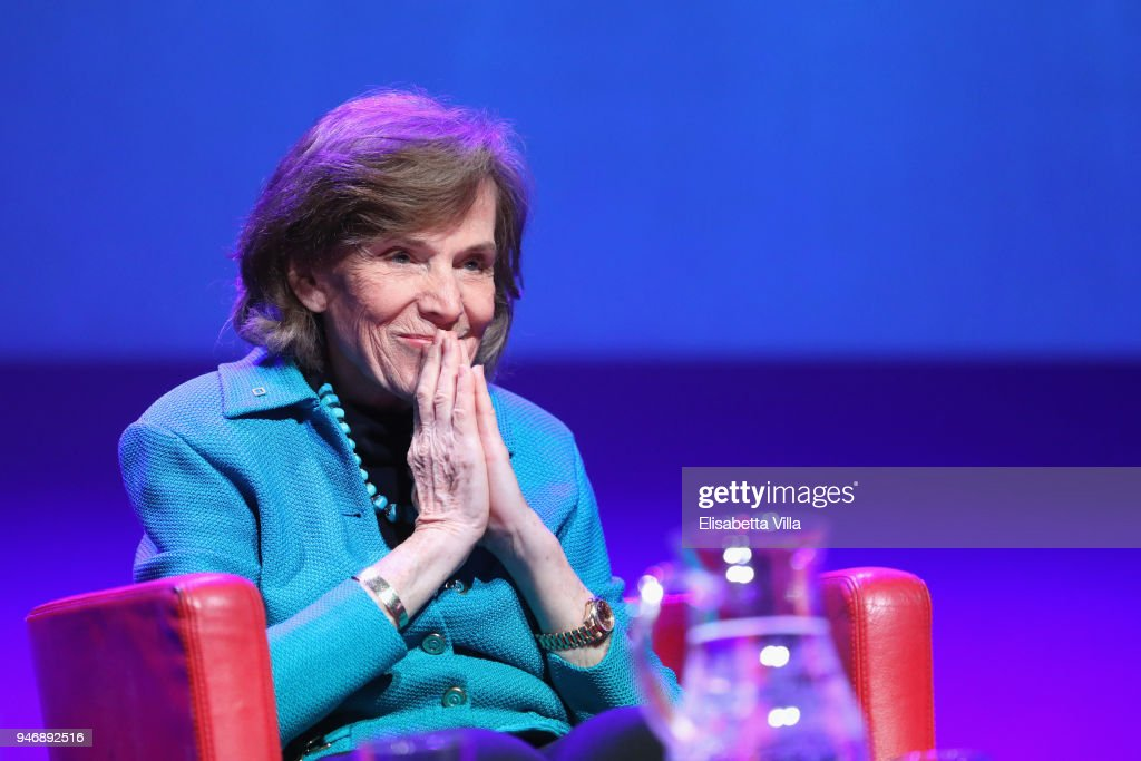 Syliva Earle attends the National Geographic Science Festival at Auditorium Parco Della Musica on April 16, 2018 in Rome, Italy. National Geographic commit $10 million to support Sky Ocean Ventures as they join forces to reduce plastics in the ocean. The collaboration will create the largest global media campaign to date focused on marine plastics.