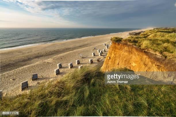 sylt island, germany, europe - klippe stock-fotos und bilder