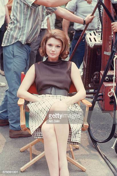 Sylva Koscina on set resting between scenes circa 1970 New York