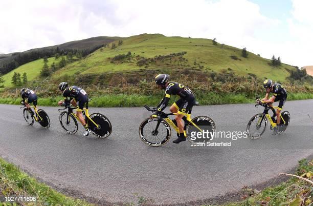 Sylvain Chavanel of France / Romain Cardis of France / Jonathan Hivert of France / Paul Ourselin of France / Adrien Petit of France / Angelo Tulik of...