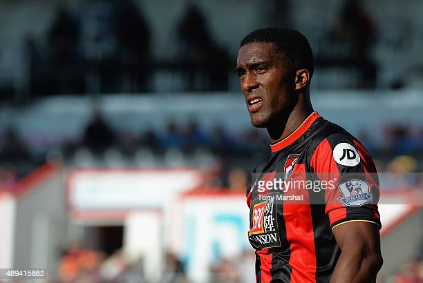 Sylvain Distin of A.F.C. Bournemouth during the Barclays Premier League match between A.F.C. Bournemouth and Sunderland at the Vitality Stadium on...