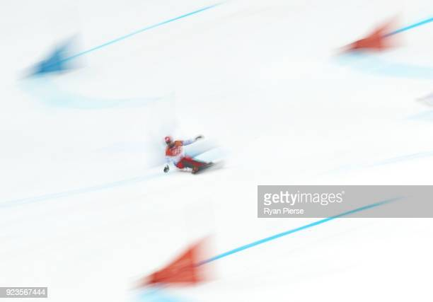 Sylvain Dufour of France competes during the Men's Parallel Giant Slalom Elimination Run on day fifteen of the PyeongChang 2018 Winter Olympic Games...