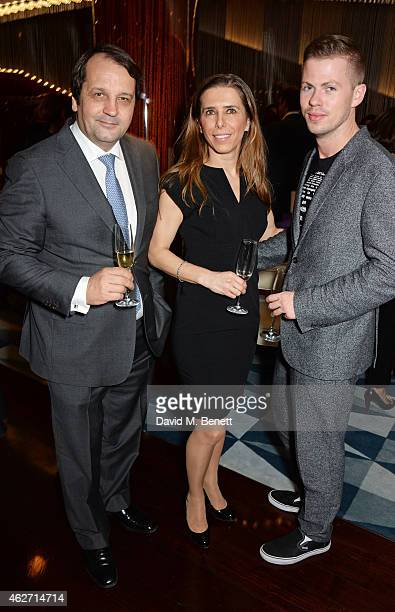 Sylvain Ercoli Dali Feller and Michael Hennegan attend a charity dinner hosted by Nicola Formby and AA Gill with Dana Hoegh in support of Borne a...