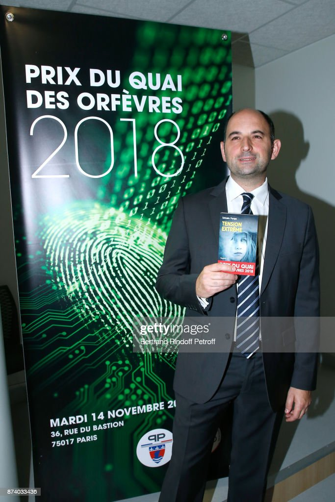 Sylvain Forge wins the '71eme Prix du Quai des Orfevres - 2018' for his Book 'Tension Extreme'. Held for the first time at new local of the 'Direction Regionale de la Police Judiciaire', 36 Rue du Bastion in Paris, France on November 14, 2017.