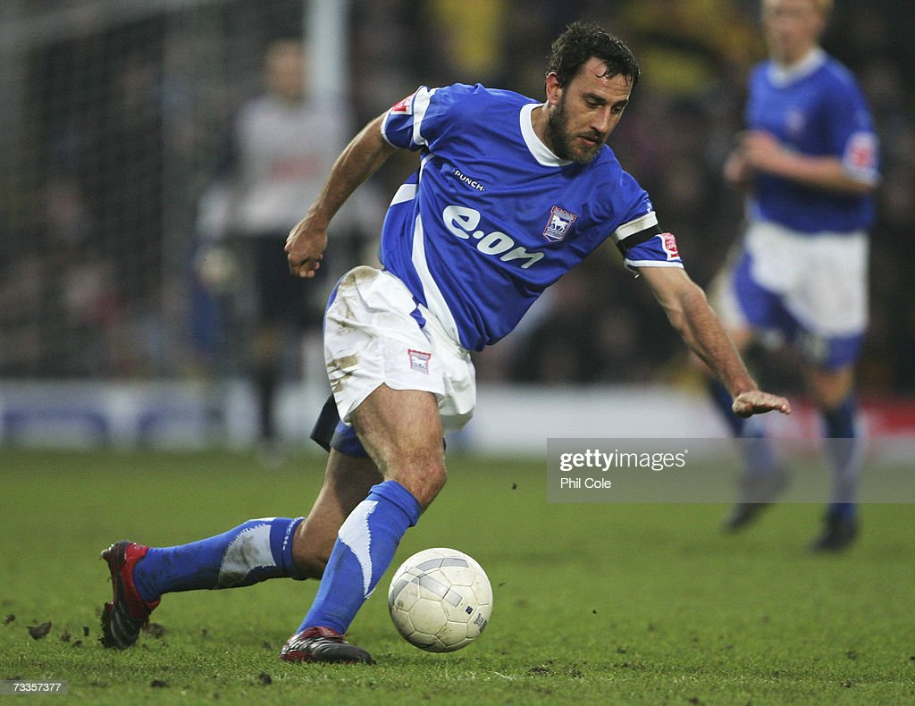 Sylvain Legwinski of Ipswich Town in action during the FA Cup sponsored by E.ON 5th Round match between Watford and Ipswich Town at Vicarage Road on February 17, 2007 in Watford, England.