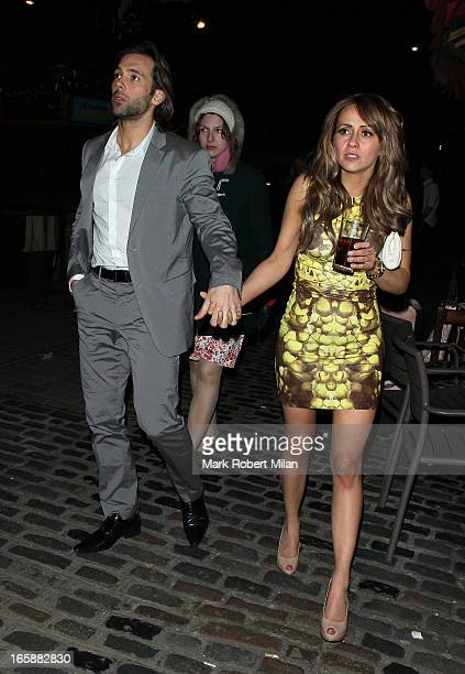 Sylvain Longchambon and Samia Ghadie at Gilgamesh restaurant on April 6 2013 in London England