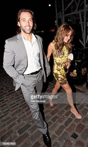 Sylvain Longchambon and Samia Ghadie sighting at Gilgamesh restaurant on April 6 2013 in London England