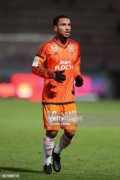 Sylvain Marveaux of Lorient during the Ligue 1 match between Angers SCO and FC Lorient on December 3 2016 in Angers France