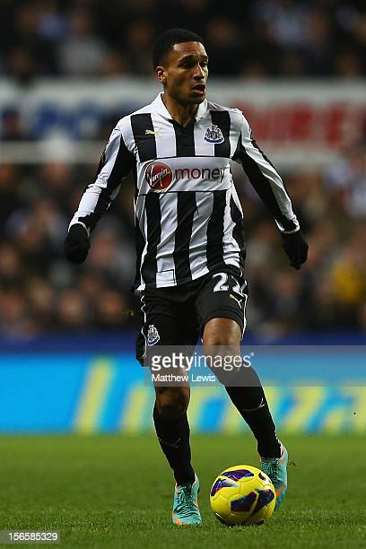 Sylvain Marveaux of Newcastle in action during the Barclays Premier League match between Newcastle United and Swansea City at St James' Park on...