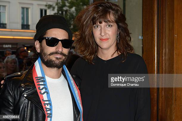 Sylvain Quimene and Daphne Burki attend the Jean Paul Gaultier show as part of the Paris Fashion Week Womenswear Spring/Summer 2015 on September 27...