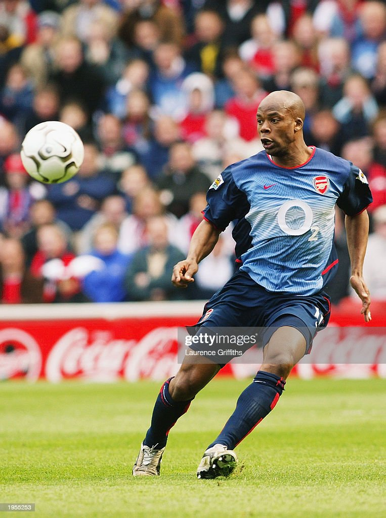 Sylvain Wiltord of Arsenal chases the ball during the FA Barclaycard Premiership match between Middlesbrough and Arsenal held on April 19, 2003 at The Riverside Stadium in Middlesbrough, England. Arsenal won the match 2-0.