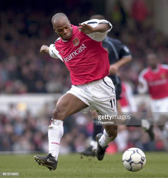 Sylvain Wiltord of Arsenal in action against West Ham United during the FA Carling Premiership match at Highbury in London on March 3 2001 Arsenal...