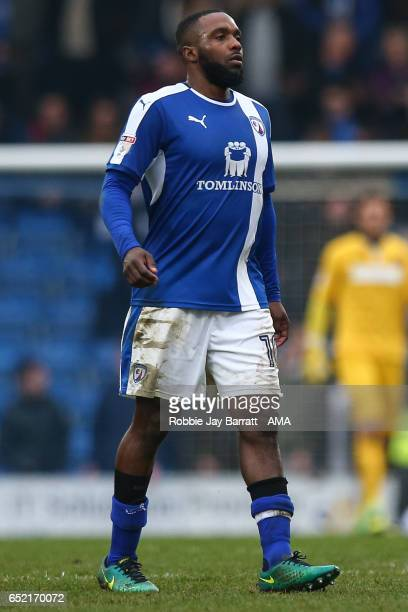 Sylvan EbanksBlake of Chesterfield during the Sky Bet League One match between Chesterfield and Shrewsbury Town at Proact Stadium on March 11 2017 in...