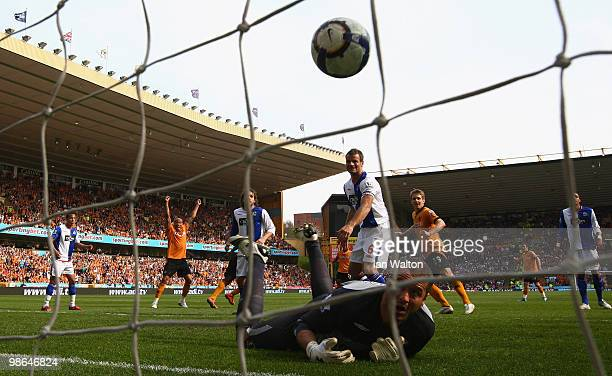 Sylvan EbanksBlake of Wolverhampton Wanderers scores a goal a goal during the Barclays Premier League match between Wolverhampton Wanderers and...