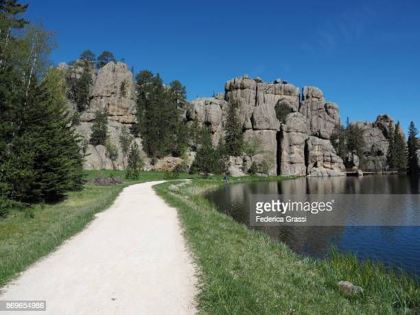 sylvan lake, custer state park, south dakota - black hills - fotografias e filmes do acervo