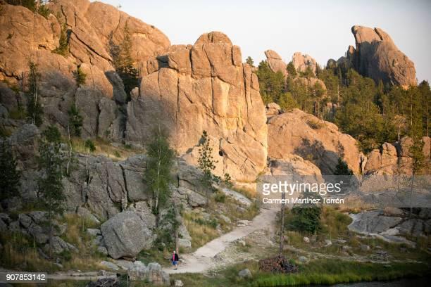 sylvan lake rock, south dakota. - black hills - fotografias e filmes do acervo