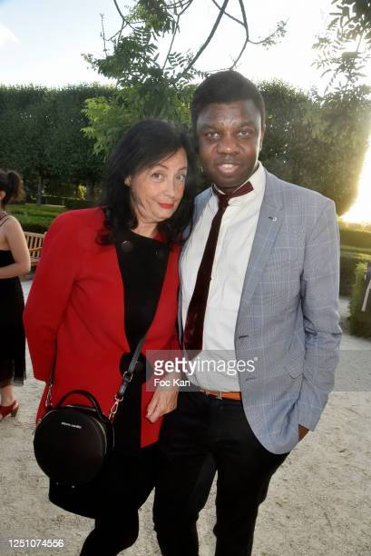 Sylvana Lorenz and Jean Barthelemy Bokassa attend Valentin Cavaillé de Nogaret Birthday Party at Jardin du Carrousel on June 16 2020 in Paris France