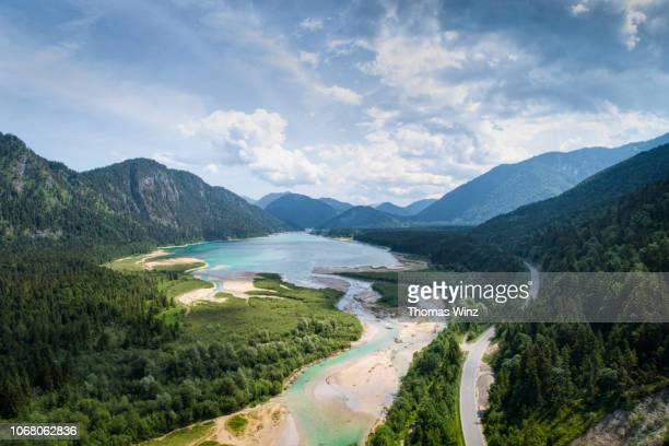 sylvenstein lake - nature stock pictures, royalty-free photos & images