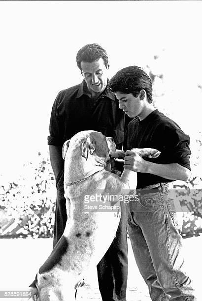 Sylvester and Sage Stallone