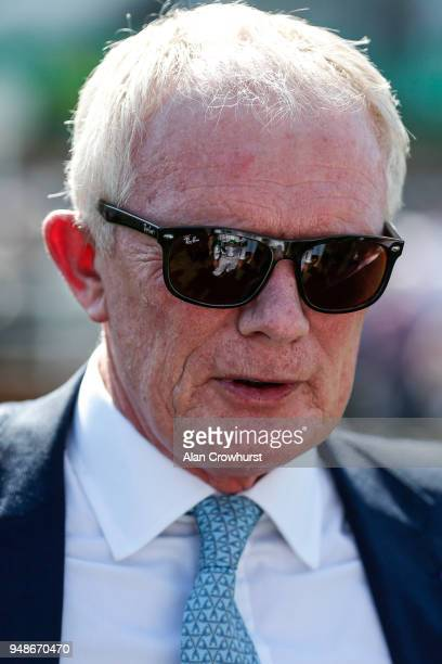 Sylvester Kirk poses at Newmarket racecourse on April 19 2018 in Newmarket England