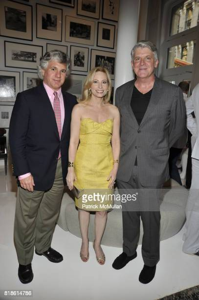 Sylvester Miniter Gillian Miniter and John Lyons attend EDIBLE SCHOOLYARD NEW YORK Summer Solstice Dinner Hosted by LELA ROSE and ALICE WATERS at...