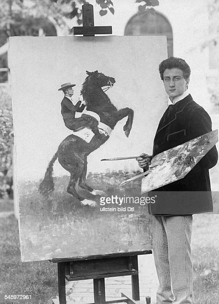 Sylvester Schäffer Jr*220118851949 Artist Akrobat Jongleur Schauspieler D'als Schnellmaler zeigte Sylvester Schäffer sein großes Maltalent'...