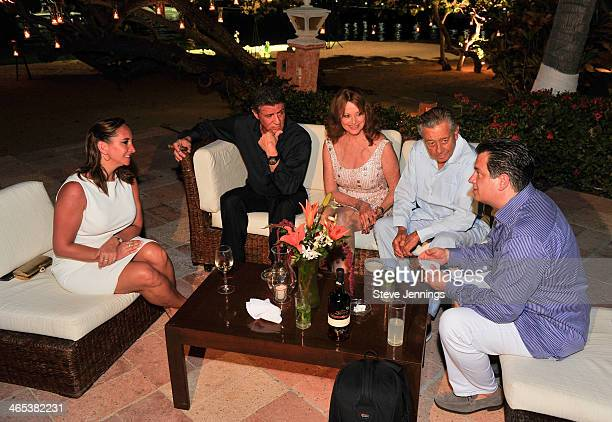 Sylvester Stallone along with Claudia Ruiz Massieu Christine Aleman Miguel Aleman V and Miguel Aleman M at a private dinner to celebrate the 9th...