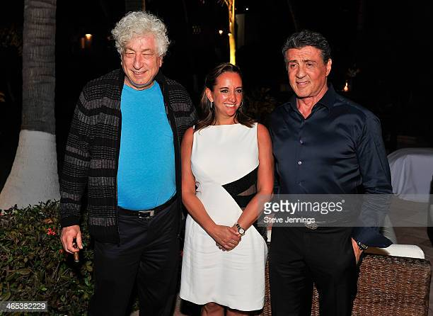 Sylvester Stallone along with film producer Avi Lerner and Secretary of Tourism for Mexico Claudia Ruiz Massieu attend a private dinner to celebrate...