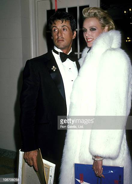 Sylvester Stallone and Brigitte Nielsen during 1986 Valentine's Day Party at Martin Poll's Apartment in New York City New York United States