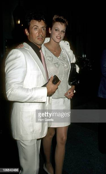 Sylvester Stallone and Brigitte Nielsen during Sylvester Stallone and Brigitte Nielsen Sighting at Cafe Des Aritistes in New York City August 4 1985...