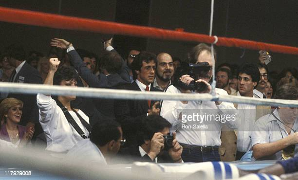 Sylvester Stallone And Crowd during Lee Canalito Vs Curtis Whitner Boxing Match at Tropicana Hotel Casino in Atlantic City New Jersey United States
