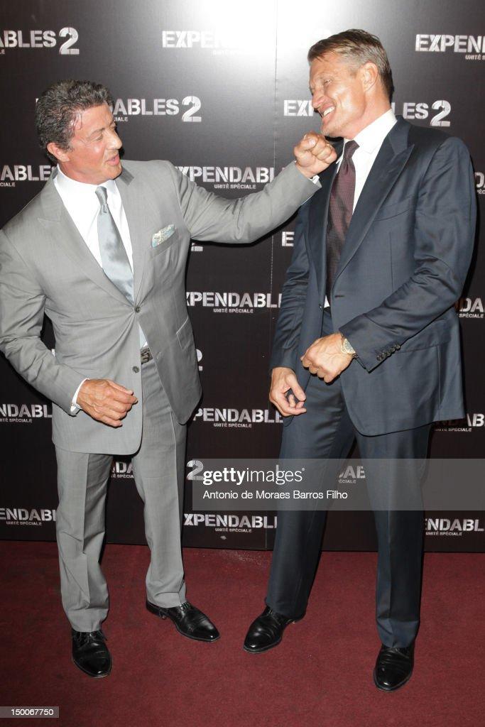 """""""The Expendables 2"""" - Paris Premiere"""