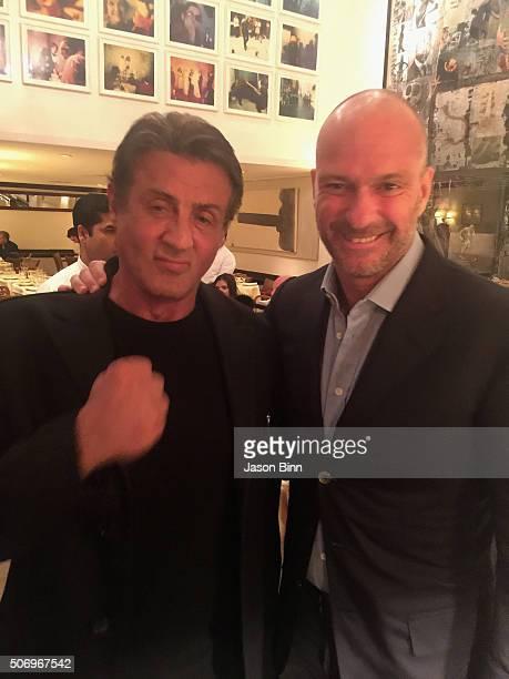 Sylvester Stallone and Giuseppe Cipriani circa November 2015 in New York City
