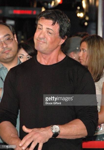 Sylvester Stallone and guest during 2006 CineVegas Day 6: Presentation of CineVegas & Brenden Theatres Star to Sylvester Stallone at Palms Casino...