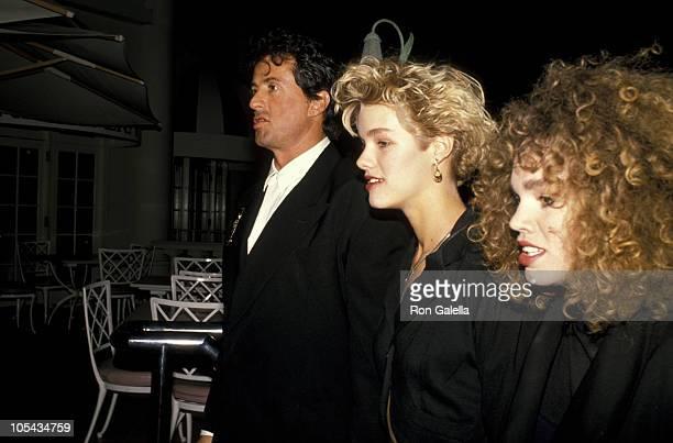 Sylvester Stallone and guests during Sugar Ray Leonard Vs. Donny LaLonde Boxing Match - November 7, 1988 at Caesar's Palace in Las Vegas, Nevada,...