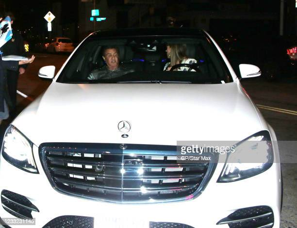 Sylvester Stallone and Jennifer Flavin are seen on June 1, 2021 in Los Angeles, California.