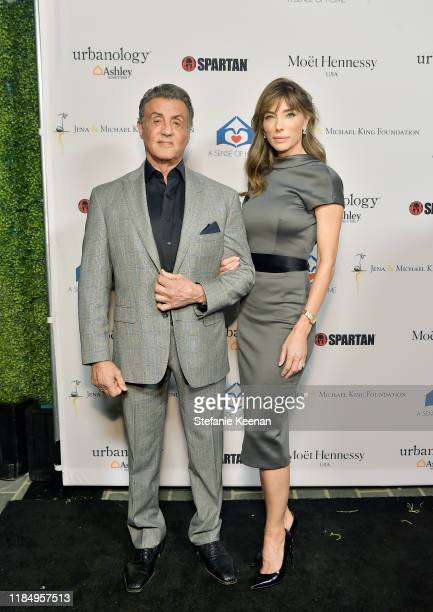 Sylvester Stallone and Jennifer Flavin attend A Sense Of Home's First Ever Annual Gala - The Backyard Bowl at a Private Residence on November 01,...