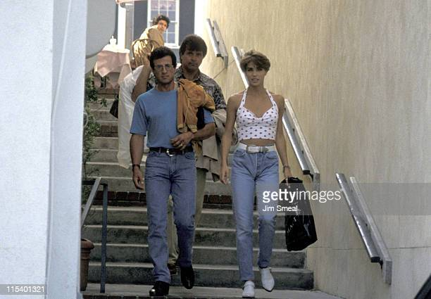 Sylvester Stallone And Jennifer Flavin during Sylvester Stallone And Jennifer Flavin Sighting at Sunset Plaza June 21 1991 at Sunset Plaza in Los...