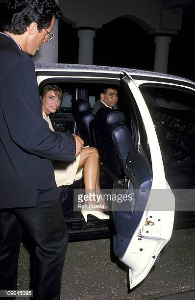 Sylvester Stallone and Jennifer Flavin during Universal Studios Private Party at the Grand Cypress Resort - June 6, 1990 at Grand Cyprus Resort in...
