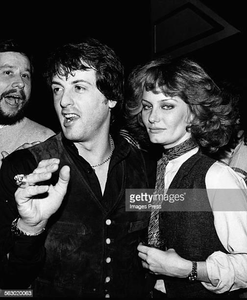 Sylvester Stallone and Joyce Ingalls at Studio 54 circa 1978 in New York City
